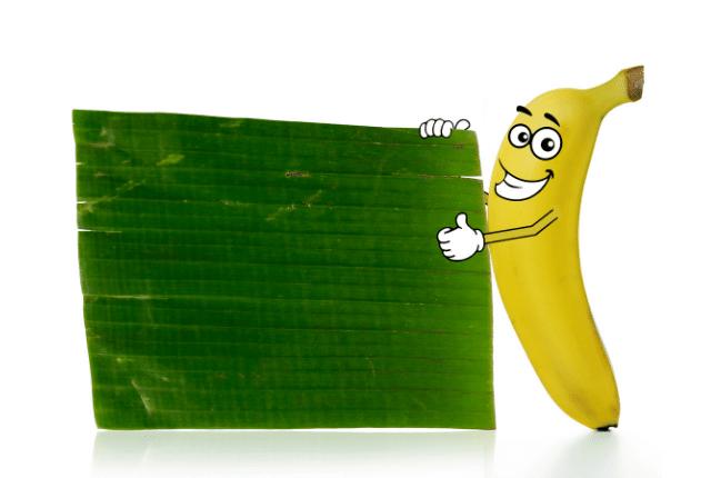 בננה מחייכת ללוח